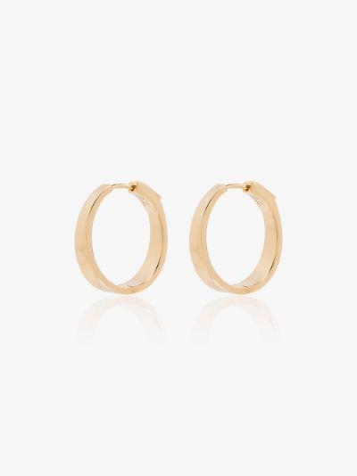 18K yellow gold Meryl hoop earrings