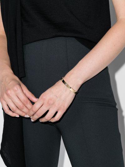 18K yellow gold Oval diamond bracelet