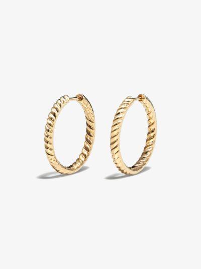 18K yellow gold Zoe hoop earrings
