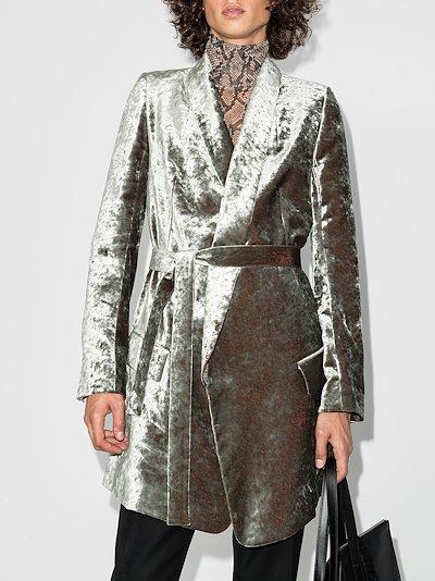 Lucinda velvet belted jacket