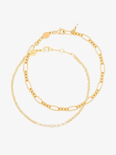 gold-plated Clemence Sun Stalker bracelet set