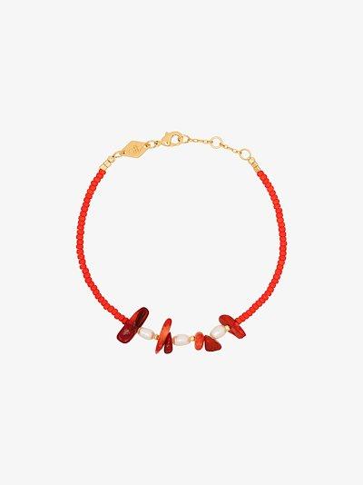 gold-plated emmanuelle pearl bracelet