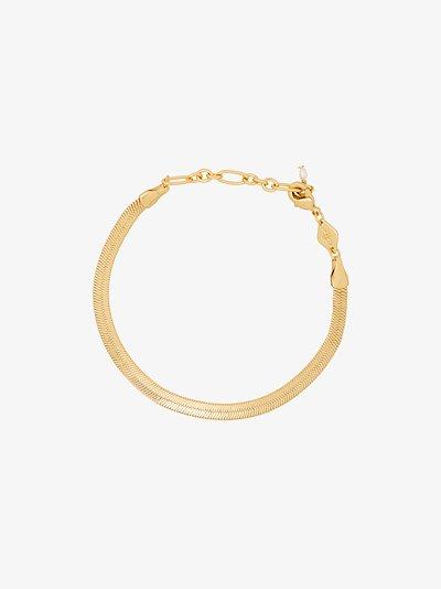 gold-plated Snake Charmer link bracelet
