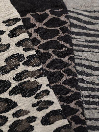grey printed socks set