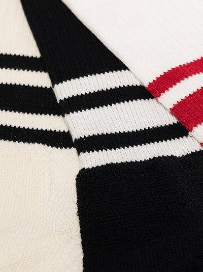 multicoloured three stripe socks set