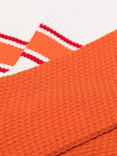 orange and white crew socks set