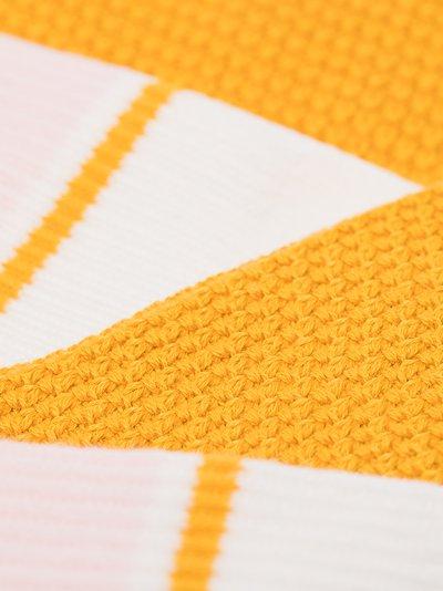 yellow and white crew socks set
