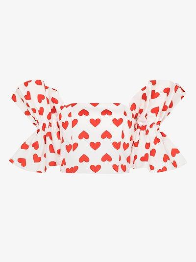 Anjelica heart print top