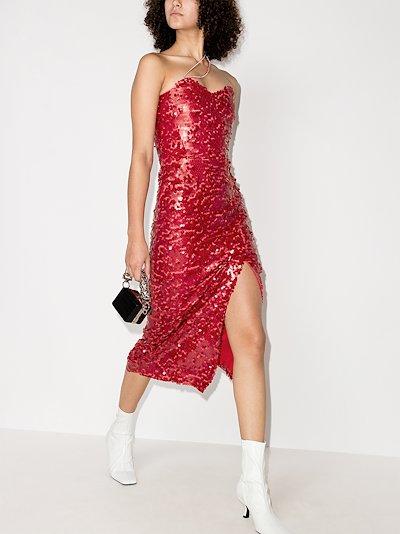 Ava sequinned midi dress