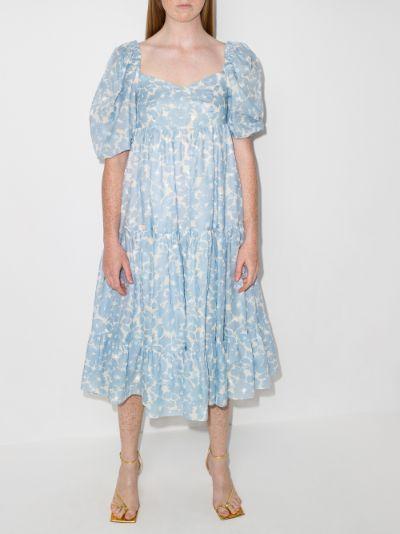 Juliette Floral Print Midi Dress