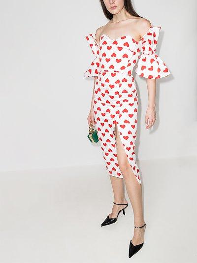 Sophia heart print midi dress
