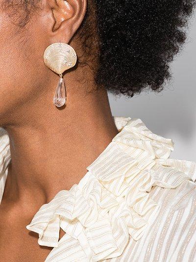 24K gold-plated Siren Tears crystal drop earrings