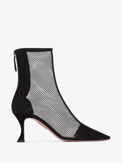 black Saint Honoré 75 mesh ankle boots