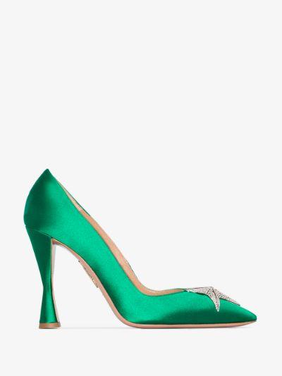 green Proust 105 satin pumps
