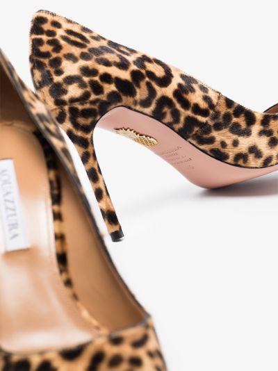 neutral Purist Cavallino 85 leopard print pumps