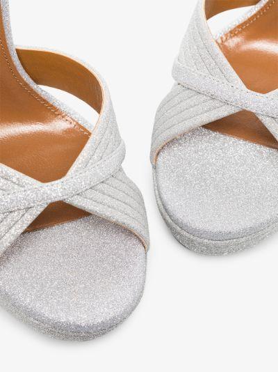 silver tone Sundance 140 leather sandals