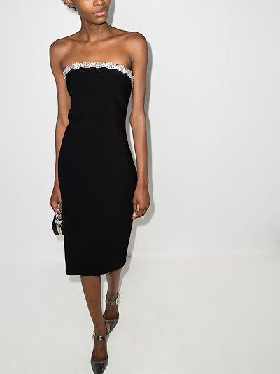 crystal Embellished Midi Dress