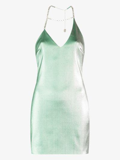 crystal halterneck mini dress