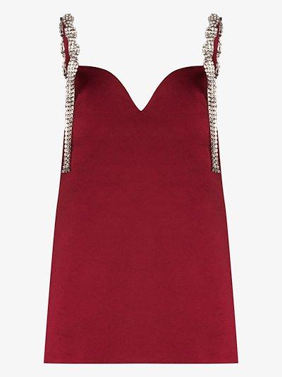crystal-strap mini dress