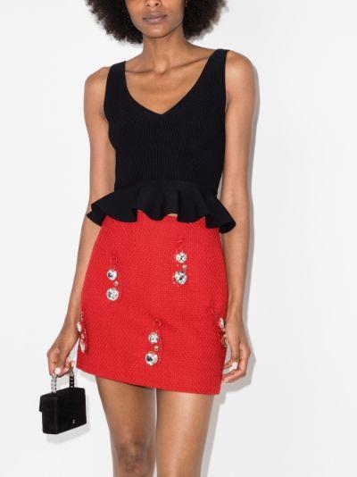 Hammered pendant mini skirt