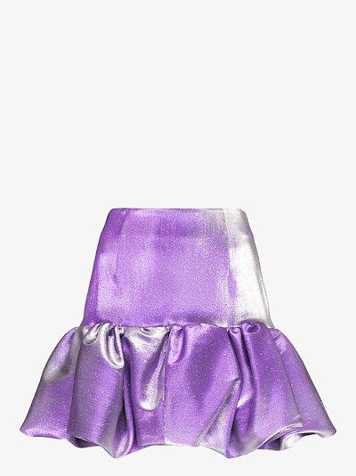 puffball mini skirt