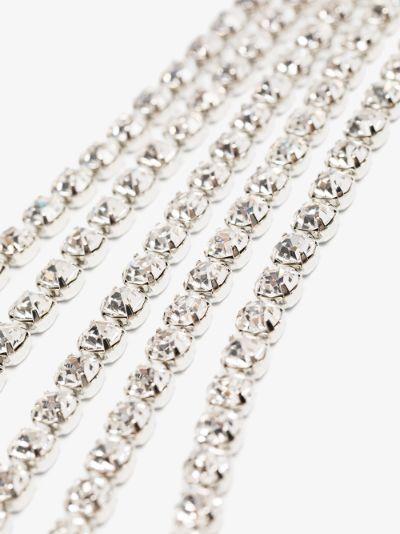 Silver Tone fringed Crystal Headpiece