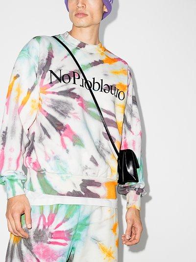 No Problemo tie-dye cotton sweatshirt