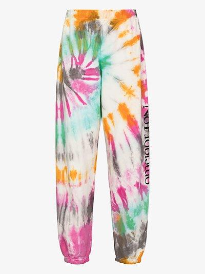 No Problemo tie-dye cotton track pants