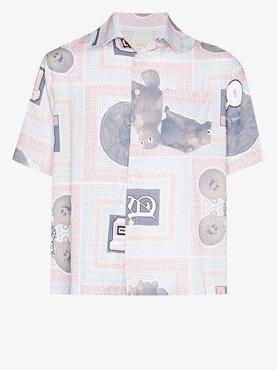 scarf print shirt