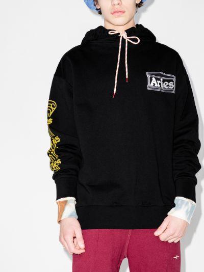 temple print logo hoodie