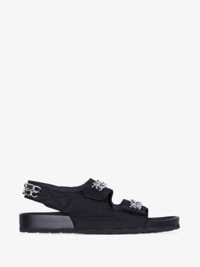 black Apache chain sandals
