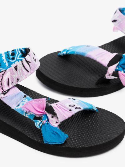 Blue and Pink Trekky Bandana Sandals