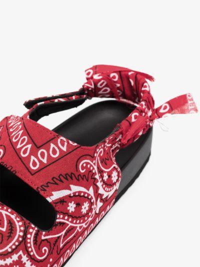 Red Apache bandana sandals