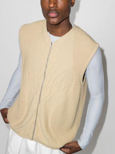 tree motif knit vest