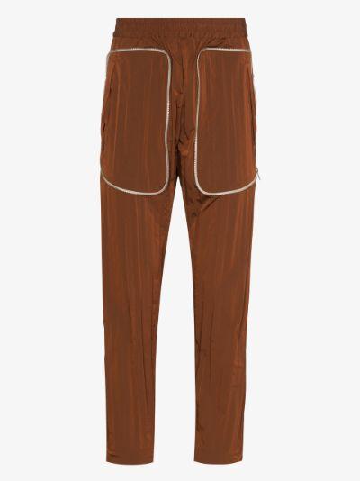 zip contour track pants