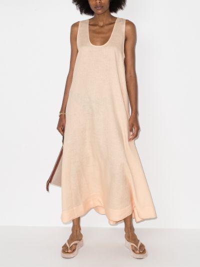Capri linen maxi dress