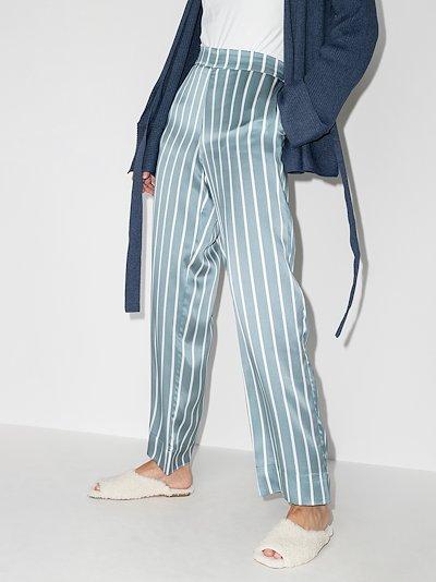 London striped silk pyjama bottoms
