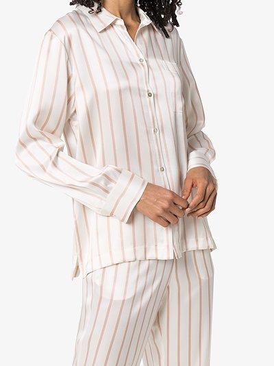 London striped silk pyjama top