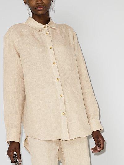 Milan oversized linen shirt