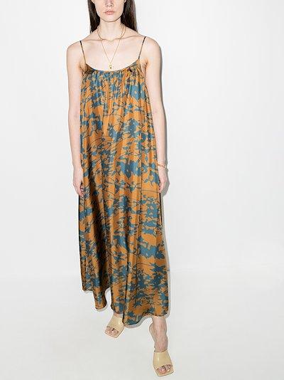 Napoli floral silk maxi dress