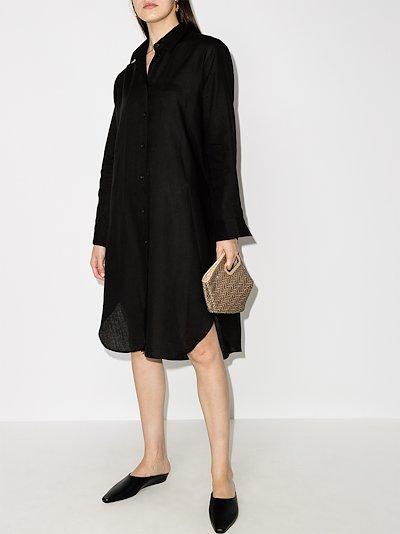 Oxford organic linen shirt dress