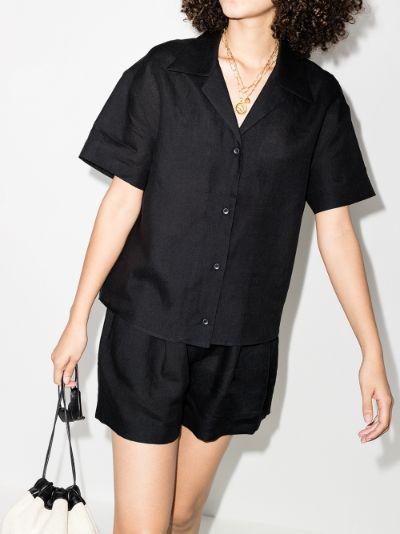 prague short sleeve linen shirt
