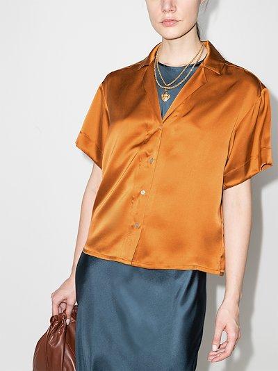 Prague short sleeve silk shirt