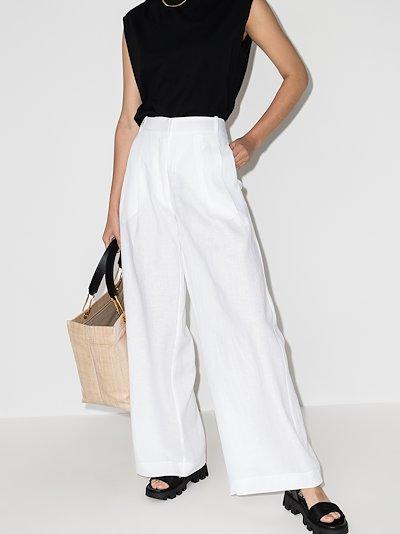 Rivello wide leg linen trousers
