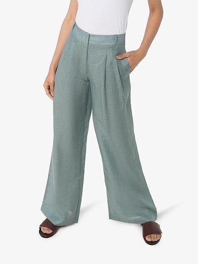 Rivello wide leg organic linen trousers