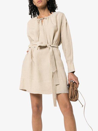 Santorini organic linen mini dress
