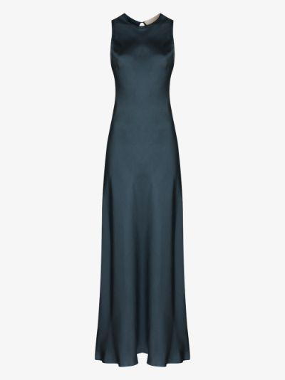 Valencia silk maxi dress