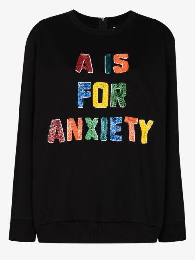 Beaded graphic sweatshirt
