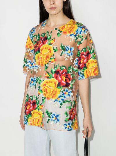 Floral Sequin T-Shirt
