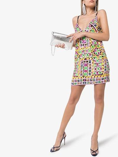 geometric sequin mini dress